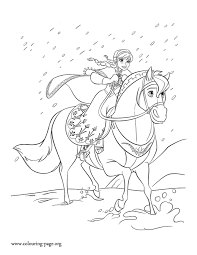 Disegni Da Colorare Di Frozen Da Stampare Gratisanna A Cavallo