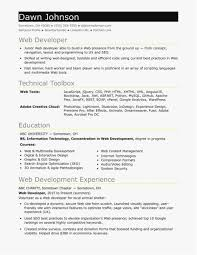 Java Web Developer Resume Sample Java Developer Resume Sample format Inspirational Entry Level Resume 4