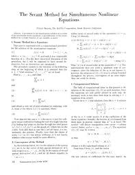 the secant method for simultaneous