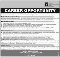 engineer jobs in iba karachi project engineer jobs in iba karachi
