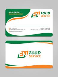 Visiting Card Design For Catering Services Modern Upmarket Catering Business Card Design For En Food