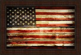 american flag framed acrylic painting print