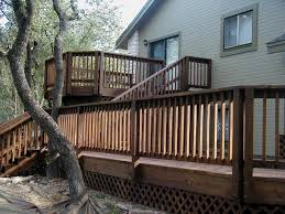 Bi Level Deck Designs Exceptional House Deck Plans 12 Split Level Home Deck