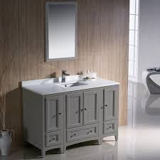 fvn20 122412gr oxford 48 inch gray traditional bathroom vanity fvn20 122412gr fst2060gr oxford 48 inch gray