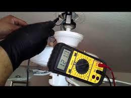 ceiling fan voltage test