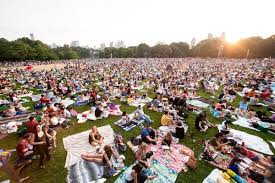399 For A Festival In Central Park The Great Lawn Goes