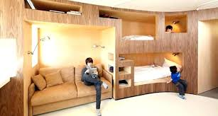 built in beds for s wall bunk bed into plans
