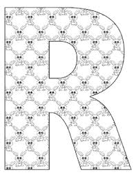 Alphabet letter r coloring page. Alphabet Coloring Pages For The Letter R 7 Beginning Sound Pictures For R
