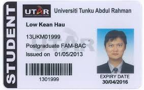 College Templates Student Template Station Id Card -