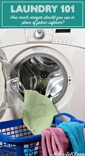 How Much Fabric Softener To Use How Much Vinegar Should I Use In The Laundry Home Ec 101