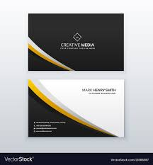 Simple Business Card Design Template Business Card Template Design In Simple Style