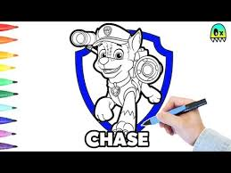 Paw Patrol Coloring Pages Chase Fun Coloring Book For Kids Youtube