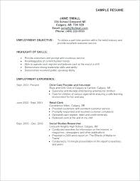 Resume Examples For Highschool Students Examples Of Objectives In A