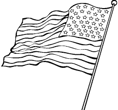 American Flag Outline And Coloring Pages Viettiinfo