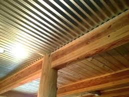 galvanized metal ceiling corrugated metal ceiling in basement ed