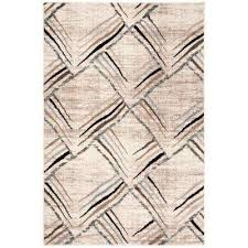 amsterdam cream charcoal 4 ft x 6 ft area rug