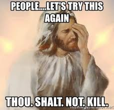 Image result for Thou shalt not kill Pinterest