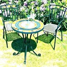 patio table and 2 chairs small outdoor table set mosaic bistro patio set small patio table