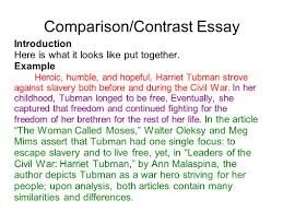 Comparison And Contrast Essays Examples Compare And Contrast Essay Introduction World Of Reference