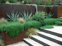 modern retaining wall awesome ideas metal retaining wall sheet garden 4 corrugated iron idea posts