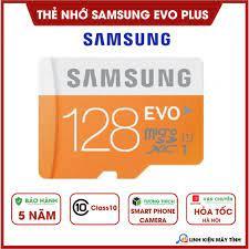 Thẻ nhớ Samsung 128GB Micro SD Evo plus - Bảo hành 5 năm | Thẻ Nhớ Điện  Thoại