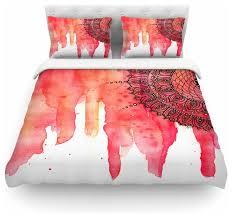 li zamperini red mandala duvet cover king contemporary duvet covers