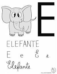 Disegno Lettera E Di Elefante Disegni Colorati Per Bambini Da
