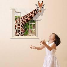 3d lovely giraffe wall sticker decal living room home decor wallpaper art mural on wall art murals vinyl decals stickers with 3d lovely giraffe wall sticker decal living room home decor