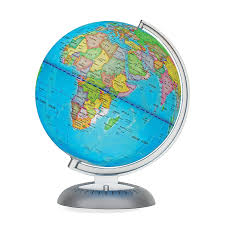 world globe on stand. Amazon.com: Illuminated World Globe For Kids With Stand \u2013 Built-in LED Light Illuminates Night View Colorful, Easy-Read Labels Of Continents, On D