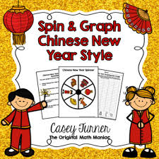 Chinese New Year Chart Spin Graph Chinese New Year Bar Graph Tally Chart Line Plot Pie Graph