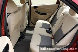2016 ford figo aspire titanium 1 5 sel rear seat with armrest up first drive review