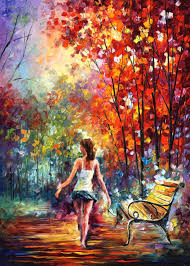 barefooted stroll mixed a giclee on canvas by leonid afremov 30 x40