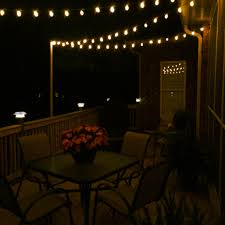 deck lighting ideas. diy deck lighting using wooden poles and shooks ideas h