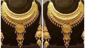 Dubai Gold Jewellery Designs Photos Bridal Gold Jewellery Necklace Designs Latest Dubai Gold Necklace