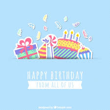 Birthday Greetings Download Free Delectable Happy Birthday Card Vector Free Download