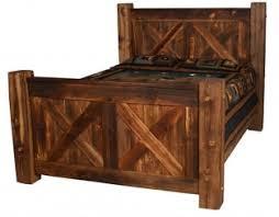 rustic timber barn door bed
