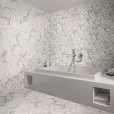 voronoi marble effect hexagon tiles