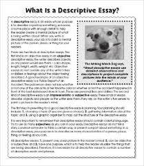 descriptive narrative essay descriptive essay writing examples descriptive essay template 8 word pdf documents premium templates