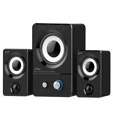 speakers with subwoofer. multimedia speaker system computer pc desktop laptop speakers 2.1 bass subwoofer with t