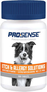 Pro-Sense Dog Itch & Allergy Solutions Tablets, 100 count - Chewy.com