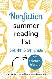 nonfiction books for summer reading lists good for 3rd 4th and 5th graders