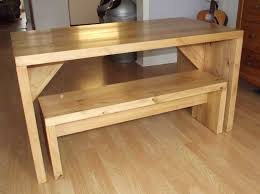 Bench Style Kitchen Tables Modern Desk Dining Table Exotic Solid Acacia Wood Stainless Steel