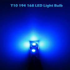 Blue Reverse Lights Bulbs Partssquare 2x T10 194 2825 168 Led Backup Reverse