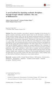 Pdf A Novel Method For Depicting Academic Disciplines Through