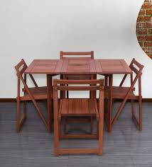 grace 4 seater foldable dining set