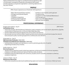 Electrician Resume Sample Free Download