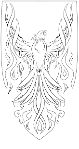 Phoenix Coloring Page Coloring Pages Phoenix Bird Coloring Pag The