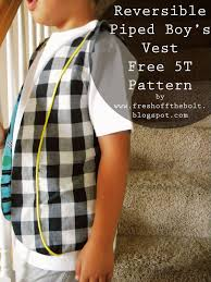 Boys Vest Pattern Cool Design Inspiration