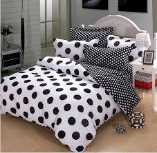 polka dot queen comforter sets black and white cotton duvet cover bedding 4