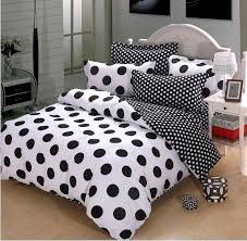 polka dot queen comforter sets black and white cotton duvet cover bedding 4